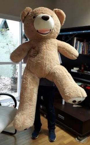 urso gigante caramelo pelúcia 1,60 mts 160cm + lacinho love