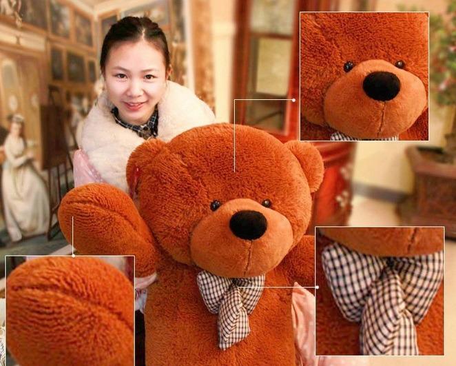 655087301 Urso Gigante De Pelucia Teddy Bear - 2 Metros Bem Cheio - R  359