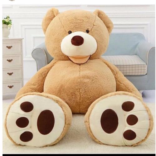 urso gigante marrom claro bege pelúcia grande 1,6 mt 160 cm