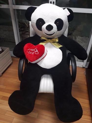 urso panda 1,2 mt de pelúcia gigante romântico para namorada