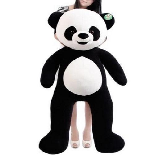 urso panda aviador grande pelúcia gigante 1,20 mts - 120 cm