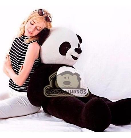 urso panda aviador ursinho de pelúcia macia gigante 120 cm