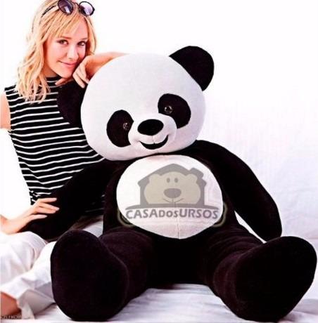 urso panda bichinho de pelucia gigante 120cm 1,2 mts grandão