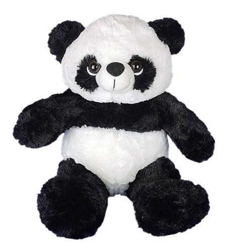 urso panda de pelúcia 22 cm - sentado - pequeno