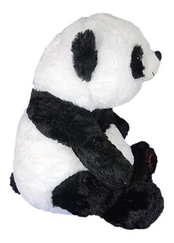 urso panda de pelúcia 28cm - sentado