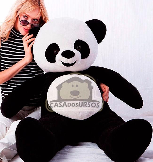 873aa973f Urso Panda De Pelúcia Grande Gigante 120cm 1