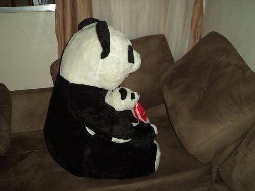 urso panda gigante c\ panda pequeno carinhoso pronta entrega