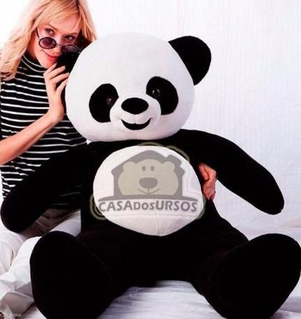 urso panda grandao de pelúcia macia teddy bear grande 120cm