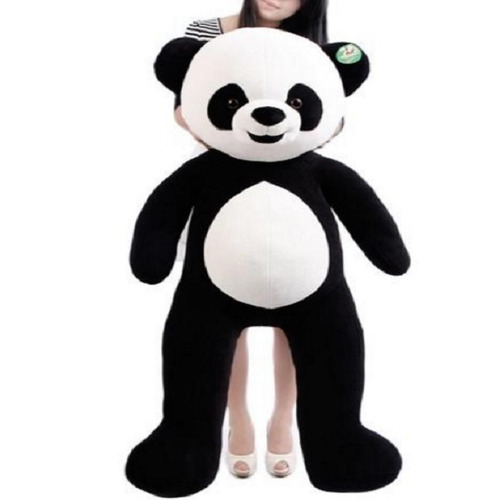 urso panda grande pelúcia gigante 1,2 mts 120cm + 2 filhotes