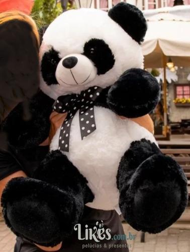 urso panda pelúcia 60cm sentado presente namorada curitiba