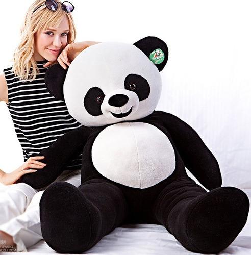 urso panda pelúcia gigante 120cm 1,2 m bicho pelúcia grande