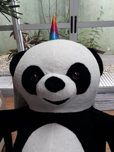 urso panda unicornio ursinho pelúcia gigante 120 cm 1,2 mts