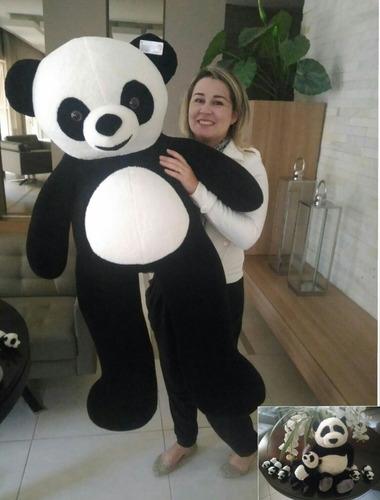 urso panda ursinho de pelúcia macia teddy bear gigante 120cm