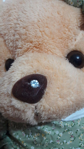 urso pelúcia com vestido p/decoração e nicho!
