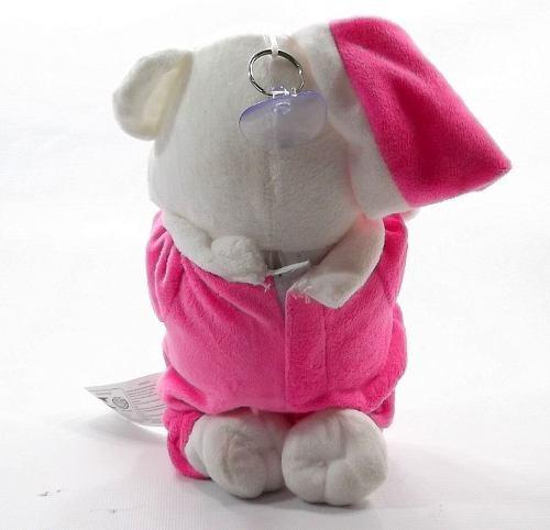 urso que reza pai nosso pijama e gorro rosa bicho pelucia