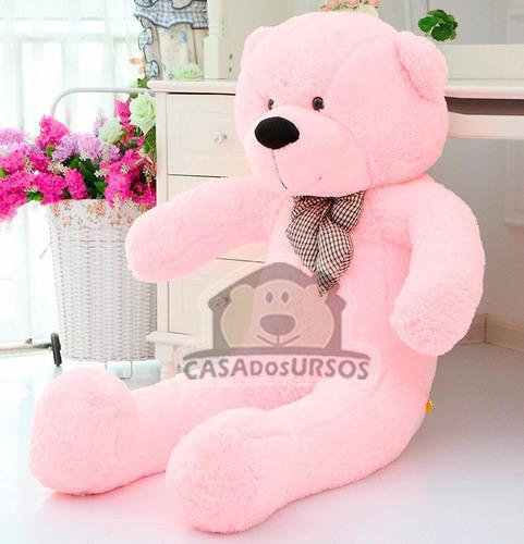 urso rosa apaixonado 1,4 m presente natal namorada + coração