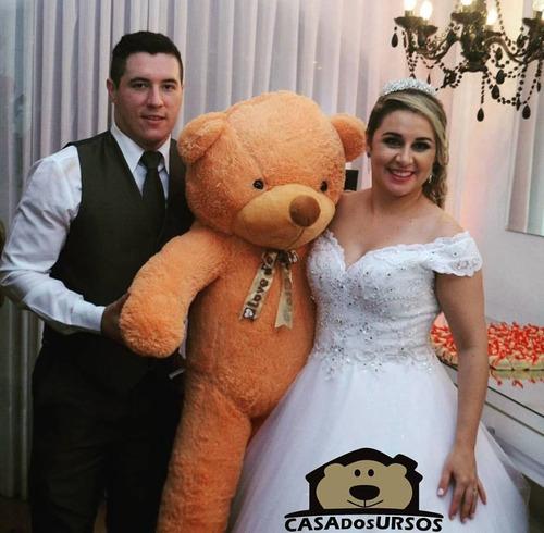 urso sem curso cacau pelúcia presente gigante 1,40 mt 140cm