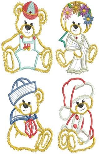 urso teddy ap  2 - 32 matrizes de bordado comput - via email