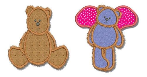 urso teddy apliquê - matrizes de bordados computadorizado