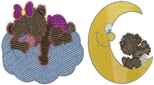 urso teddy baby sonhos - 24 matrizes de bordados - via email