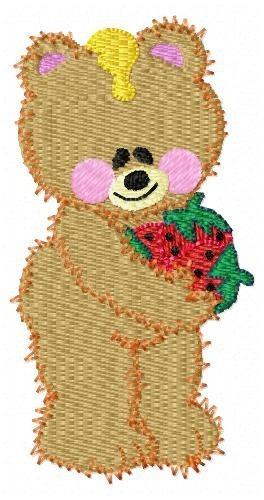 urso teddy love - coleção de matriz de bordado