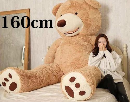 urso tedy de pelúcia teddy gigante creme 150cm + enchimento