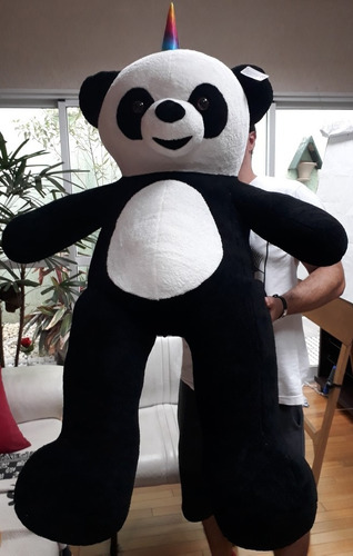 urso unicórnio panda ursinho de pelúcia macia gigante 120 cm