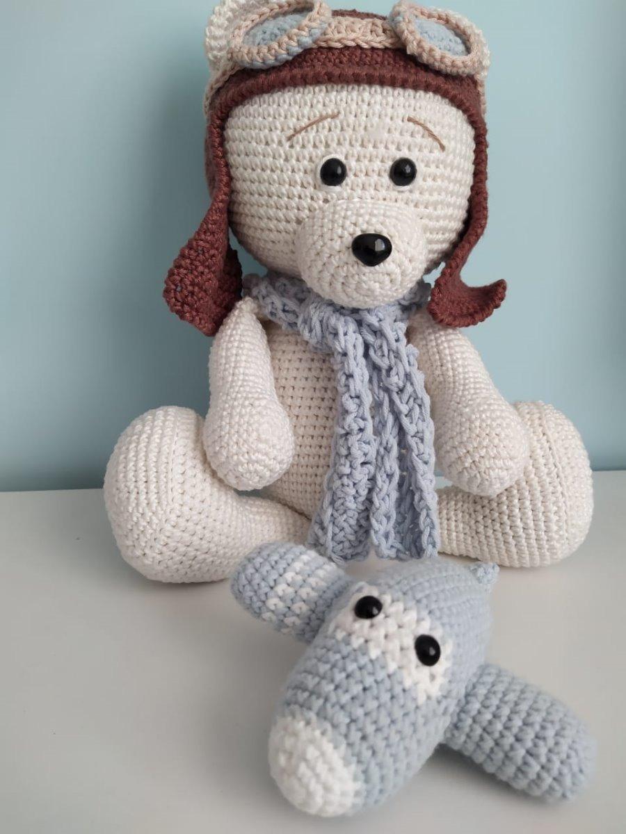 Ursinho Amigurumi de crochê – 22x27cm nas americanas | 1200x900