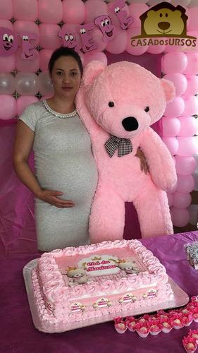 urso ursinho de pelúcia teddy bear gigante 1,30 metro 130 cm