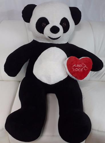 urso ursinho romântico de pelúcia gigante panda 120cm 1,2 mt