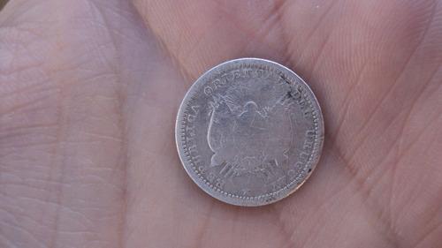 uruguay - 10 centesimos 1877 - plata