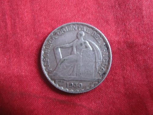 uruguay 20 centesimos 1930 excelente estado