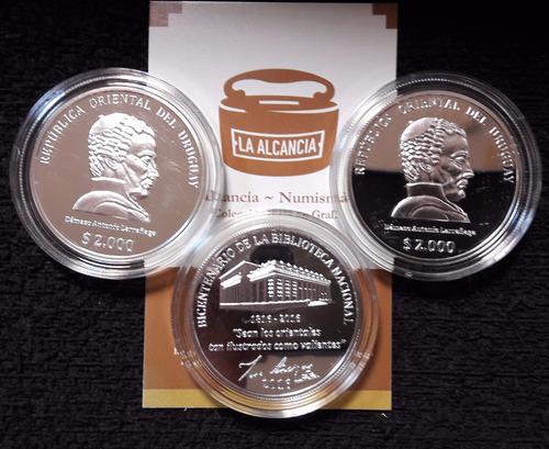 uruguay 2.000 pesos  bicentenario de la biblioteca nacional
