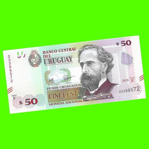uruguay - billete 50 pesos urug. 2015 - ¡nuevo - rediseñado!