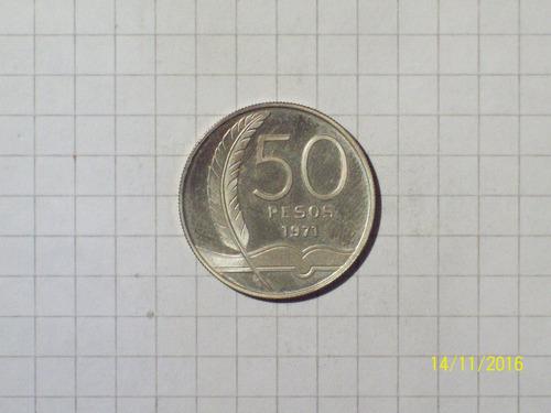 uruguay ensayo en plata 50 pesos 1971