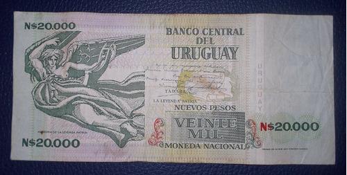 uruguay,  n$ 20.000 - 1991 (32.a.2)