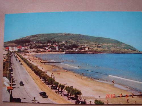 uruguay. playa piriapolis.  antigua postal