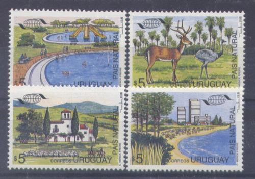 uruguay - serie completa uruguay pais natural  1995 mint