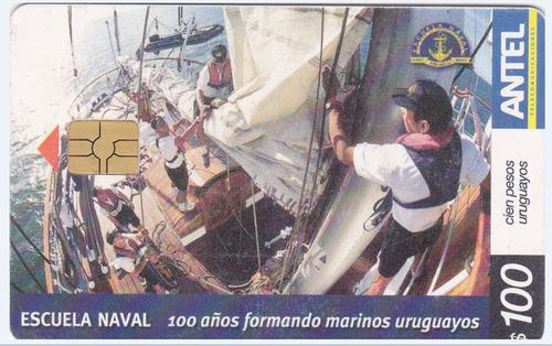 uruguay tarjeta teléfono tc nº477 centenario escuela naval