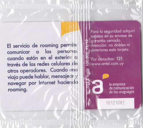 uruguay tarjeta teléfono tc nº554 nueva en blister difícil