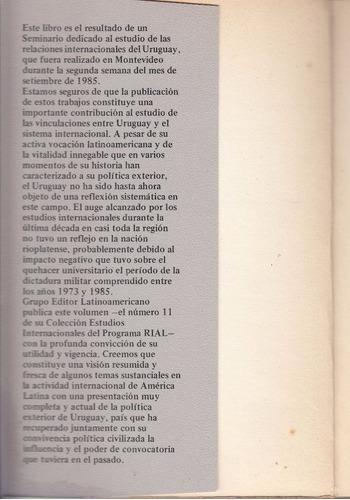 uruguay y la politica exterior latinoamerica seminario 1985
