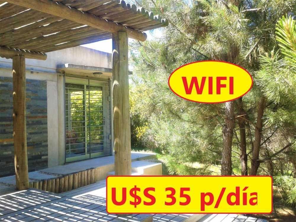 u$s 35 por día casa con wifi a 1 cuadra del mar p. del este