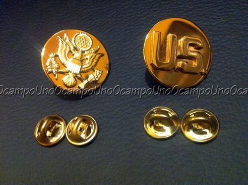 us army sergeant major collar badges. nuevas.