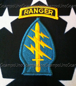 Us Army Special Forces Ranger Dress Hook Patches Set  Nuevos