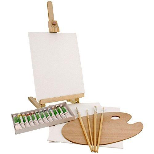 us art supply - juego de mesa de caballete y pintura de mad