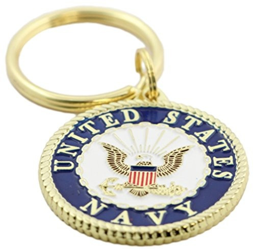 us navy crest llavero patriotic key rings military gifts col