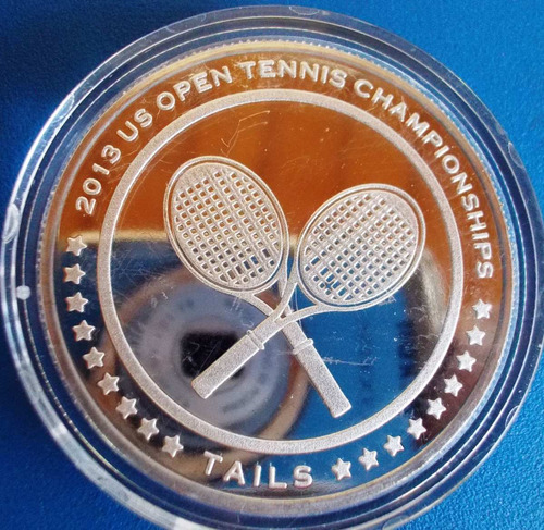 us open 2013-new york-medalha comemorativa-tenis-prateada