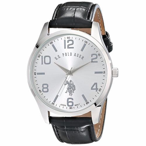u.s. polo assn reloj tono plata hombre clásico usc50224