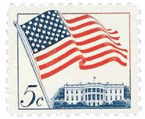 us sc #1208 - 1963 5c 50-star flag con matasello.