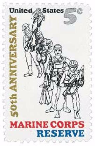 us sc #1315 - 1966 5c marine corps reserve con matasello.